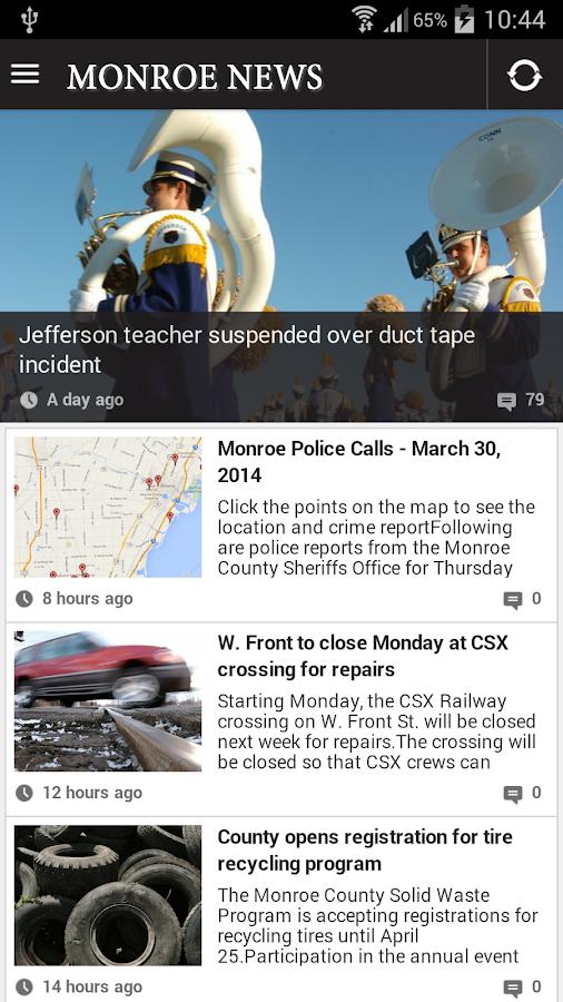 Monroe News - screenshot