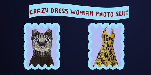 Crazy Dress Woman Photo Suit