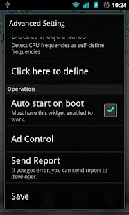 OverclockWidget (Need Root) - screenshot thumbnail