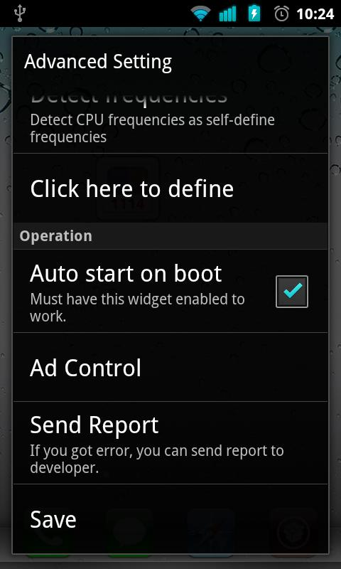 OverclockWidget (Need Root)- screenshot