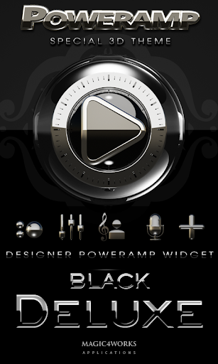 Poweramp Widget Black Deluxe
