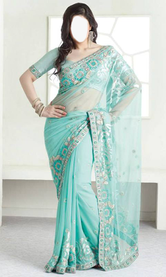 Indian Woman  Designer Saree - screenshot