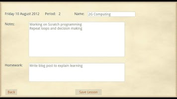 Screenshot of Teacher Planner Lite