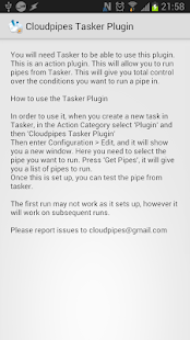 Cloudpipes Tasker Plugin- screenshot thumbnail
