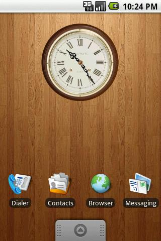 Classic Wooden Clock 2x2 - screenshot
