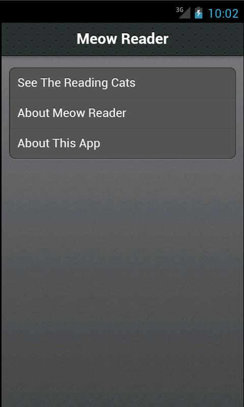 Meow Reader - screenshot
