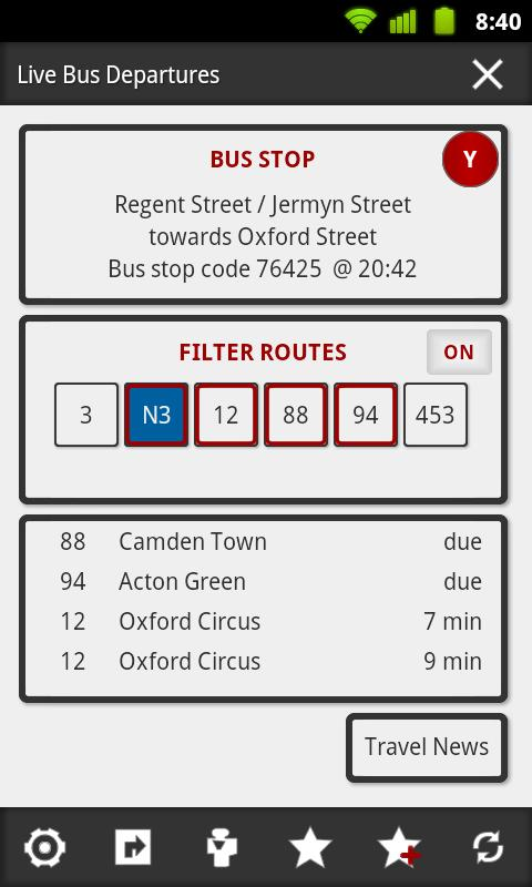 London Bus Master (Countdown) - screenshot