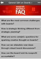 Screenshot of Nonprofit Manager's FAQ