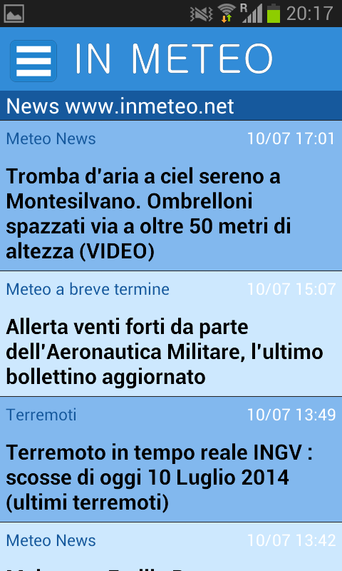 InMeteo- screenshot