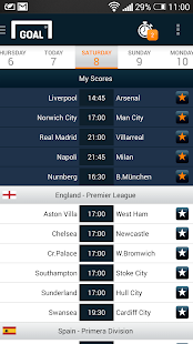 Goal Live Scores - screenshot thumbnail
