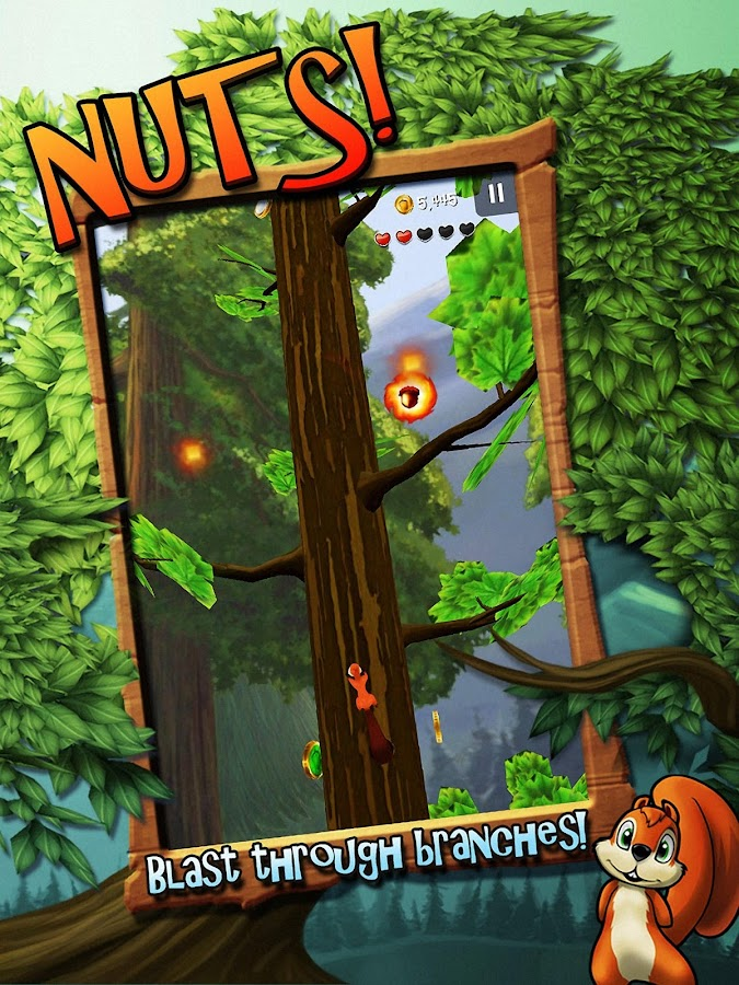Nuts!: Infinite Forest Run- screenshot