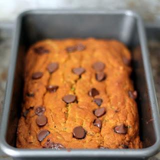 Healthy Pumpkin Zucchini Chocolate Chip Bread.