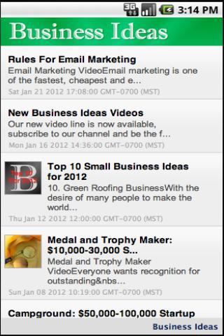 Business Ideas Lite - screenshot
