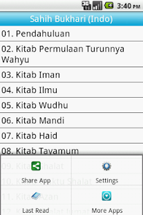 Sahih Bukhari Indonesian Free - screenshot thumbnail