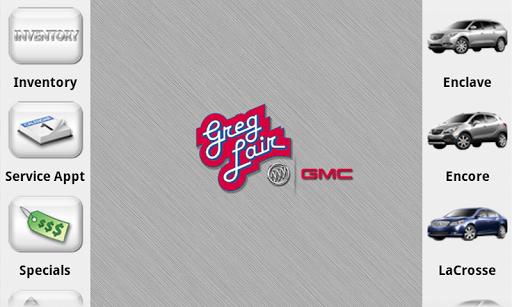 Greg Lair Buick GMC Dealer App