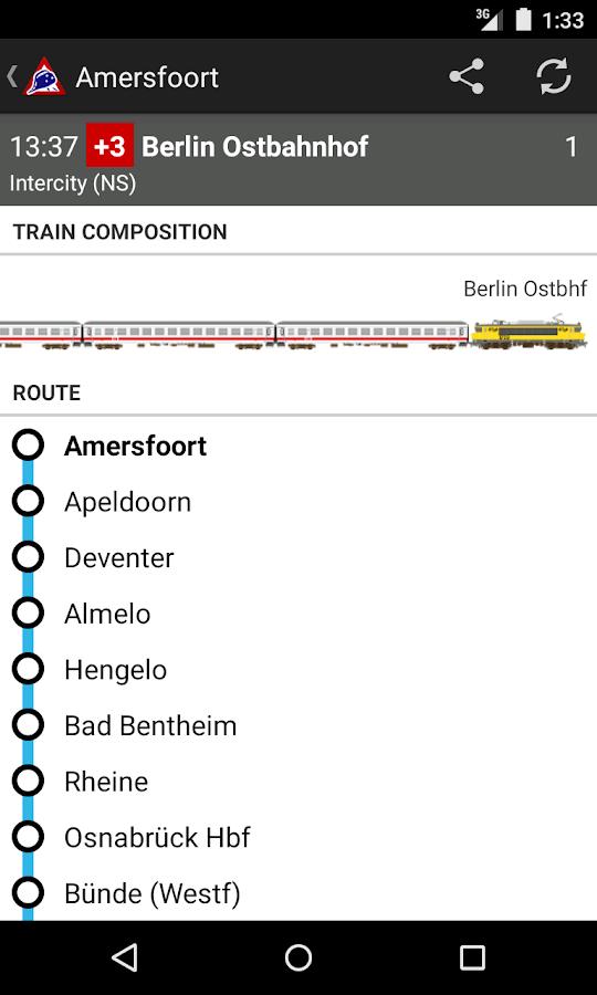 NL Train Navigator - screenshot