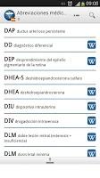 Screenshot of Medical Abbreviations ES