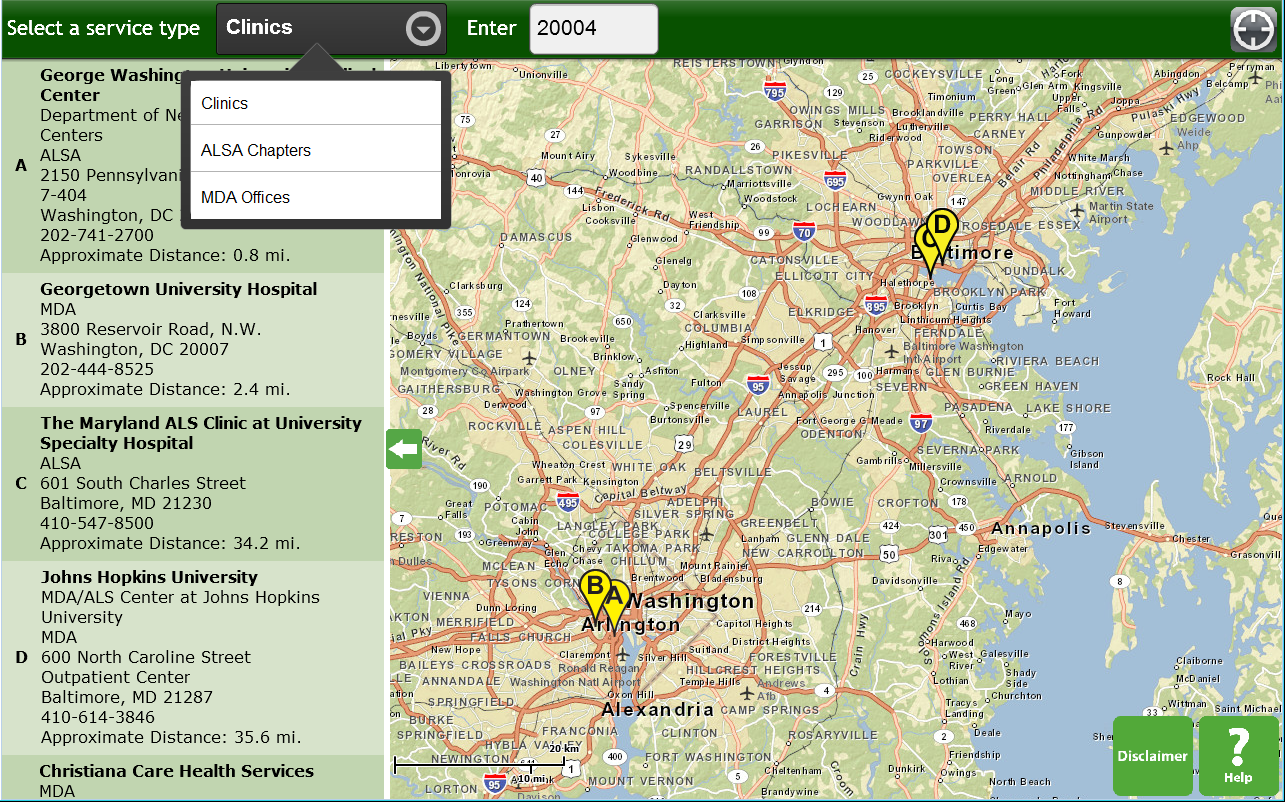 ALS Service Locator - screenshot