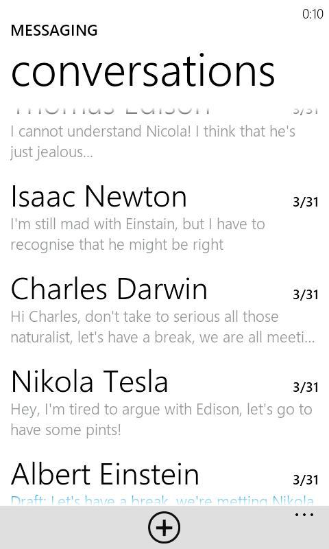 Messaging Metro Beta - screenshot