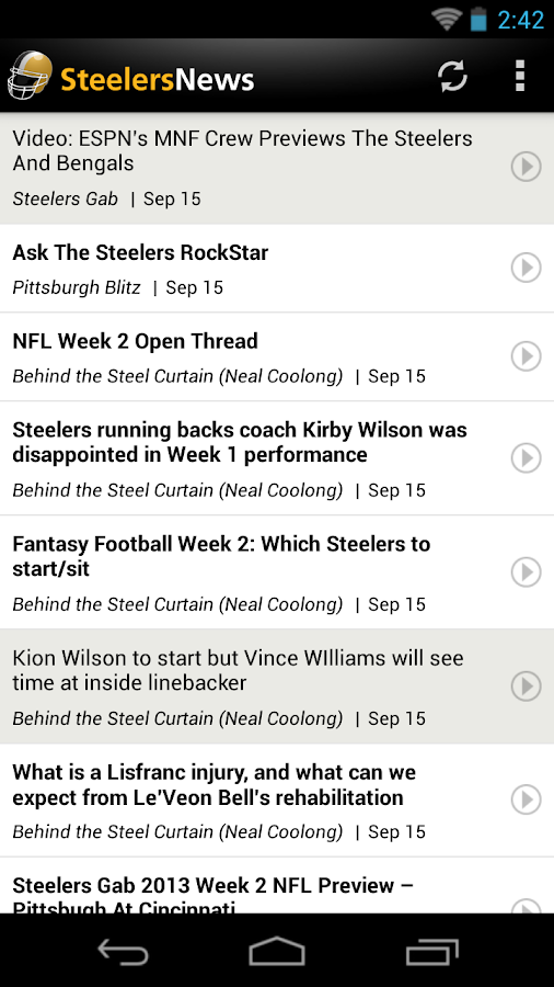 Steelers News - screenshot