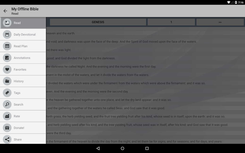 My Offline Bible- screenshot