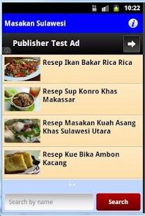 Resep Masakan Sulawesi - screenshot thumbnail