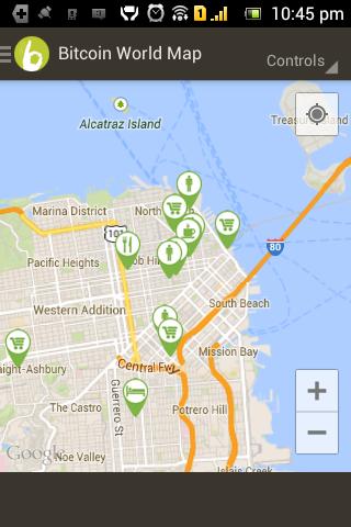 Bitcoin World Map - screenshot