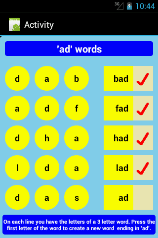 Three Letter Words Part 2 Free Android Apps on Google Play