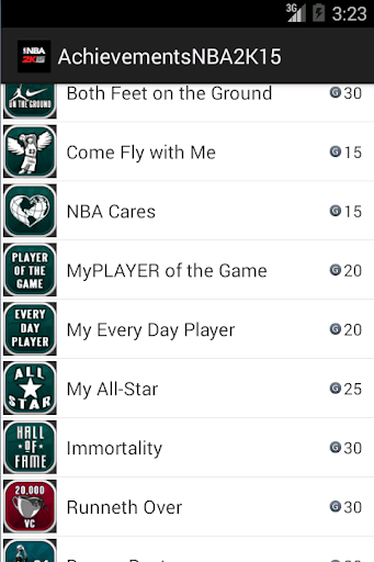Achievements NBA 2K15