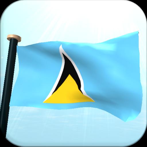 Saint Lucia Flag 3D Free