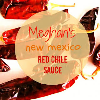 Meghan's New Mexico red chile sauce.
