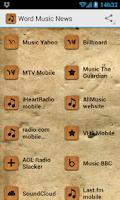 Screenshot of Word Music News
