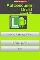 Screenshot of Autoescuela Droid DGT 2012