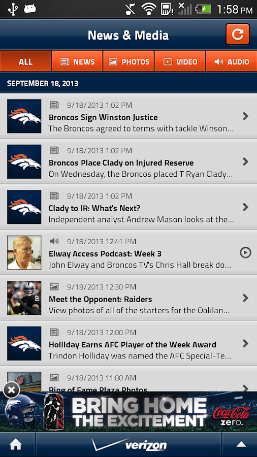 Denver Broncos Mobile - screenshot