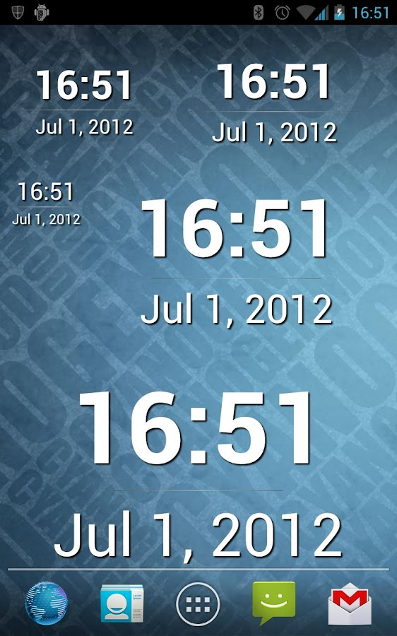 Simple Time Widget Pro - screenshot