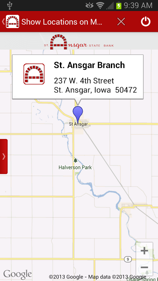St. Ansgar State Bank Mobile B - screenshot