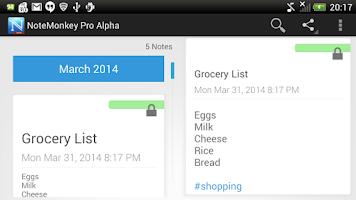 Screenshot of NoteMonkey