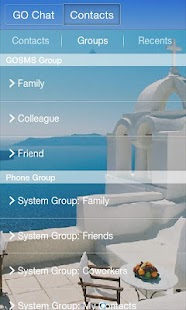GO SMS Pro Santorini Theme- screenshot thumbnail