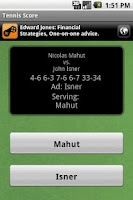 Screenshot of Tennis Score