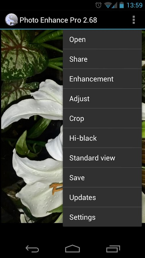 Photo Enhance HDR Editor Pro - screenshot