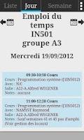 Screenshot of University Bordeaux Schedule