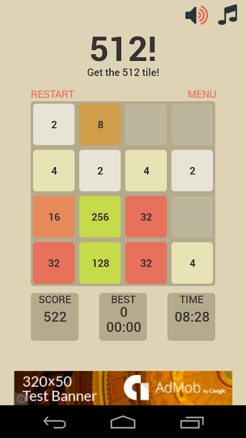 512! - 2048 for Kids- screenshot