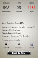 Screenshot of Speed Reading Trainer