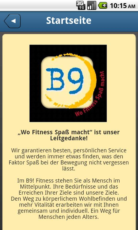 B9! Fitness - screenshot