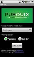 Screenshot of PubQuix