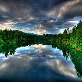 Yale Reservoir by Gary Piazza - Landscapes Waterscapes ( , #GARYFONGDRAMATICLIGHT, #WTFBOBDAVIS )