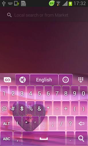 玩免費個人化APP|下載紫色的爱情主题键盘 app不用錢|硬是要APP