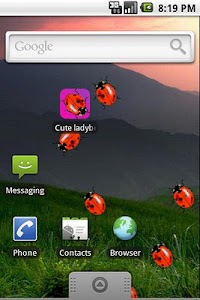 Cute Ladybugs Live Wallpaper screenshot 1