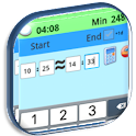 Calculator between hours, Free icon