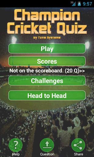 Champion Cricket Quiz